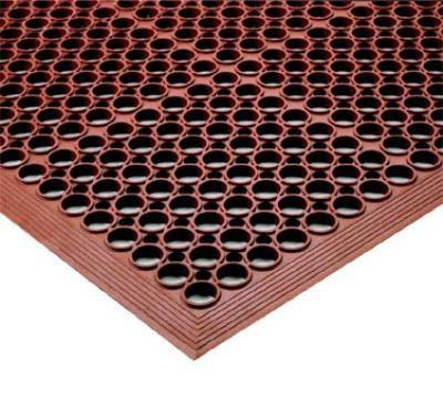Notrax T14S0310RD Tek-Tough Jr Grease Resistant Floor Mat, 3 ft x 9 ft 10 in, 1/2