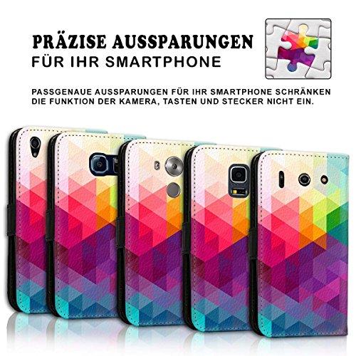 Wallet Book Style Flip Handy Tasche Case Schutz Hülle Schale Motiv Etui für Apple iPhone 6 Plus / 6S Plus - Design Flip MVD107