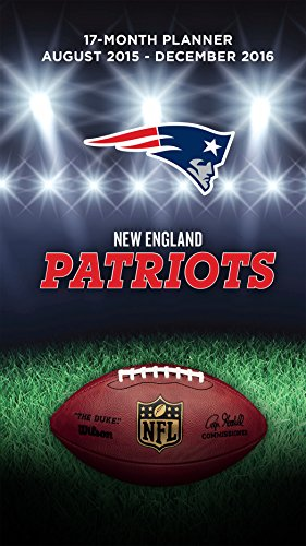 "Turner New England Patriots 17 Month Planner, August 2015 - December 2016, 3.5 x 5"" (8890550)"