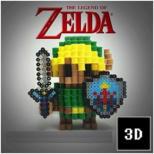 Figuras 3D de Pixel Art hama hechas a mano modelo Link Zelda ...