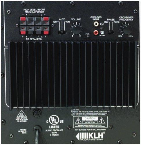 amazon com klh asw10 120 powered subwoofer discontinued by rh amazon com KLH Subwoofer Speakers Home Subwoofer Wiring Kit