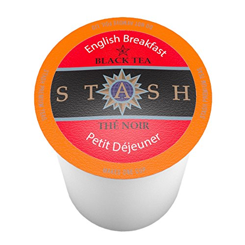 Stash Tea English Breakfast Single-Cup Tea for Keuirg K-Cup Brewers, 40 Count