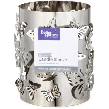 Better Homes and Gardens Tall Metal Candle Holder, Butterfly