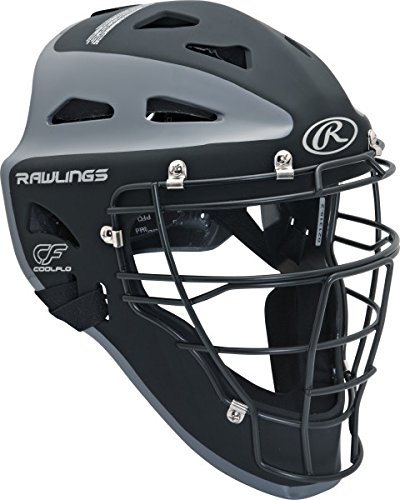 (Rawlings Sporting Goods Adult Velo Series Catchers Helmet, Black/Graphite, 7 1/8-7 3/4