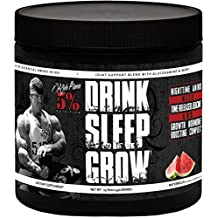 Rich Piana 5% Nutrition Drink Sleep Grow Nighttime Aminos (Watermelon) 30 Servings 15.87oz (450g)