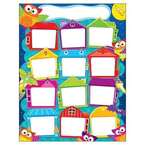 Trend Enterprises Inc. Year 'Round Houses Owl-Stars! Learning Chart, 17