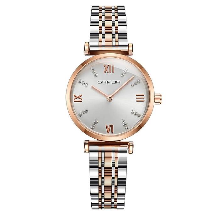 Mujer Relojes Lananas Negocio Estilo Doble Colores Banda Diamantes de imitación Relojes de Pulsera