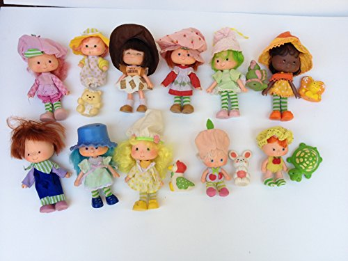 Vintage 70&80s Strawberry Shortcake: 12 Dolls,6 Minis,Trolley,Bike,Bake Shop,Can ()