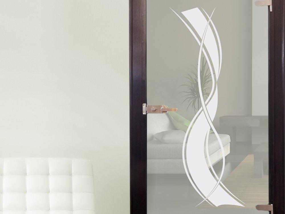 Amazon.de: Graz Design Fenstertattoo Geschwungene Streifen | Selbstklebende  Fensterfolie Fürs