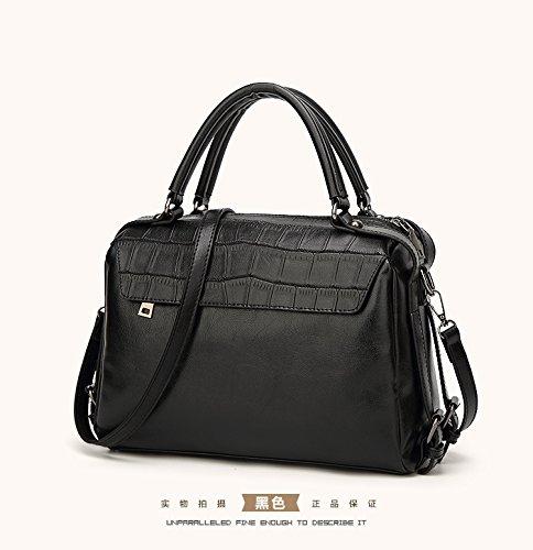 mefly 2017se la nueva Manguera Bolsa Europa y América Mode Single hombro bolso, negro negro