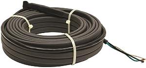 KING SRP246-150 Pre-Assembled Self-Regulating Pipe Trace Roof/Gutter De-Icing Heating Cable, 240-Volt, 150-ft / 240V, Black