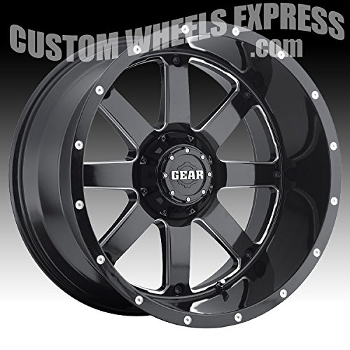 Gear Alloy Big Block 20 Black Wheel / Rim 6x135 & 6x5.5 with a -44mm Offset and a 108 Hub Bore. Partnumber 726MB-2126844 ()