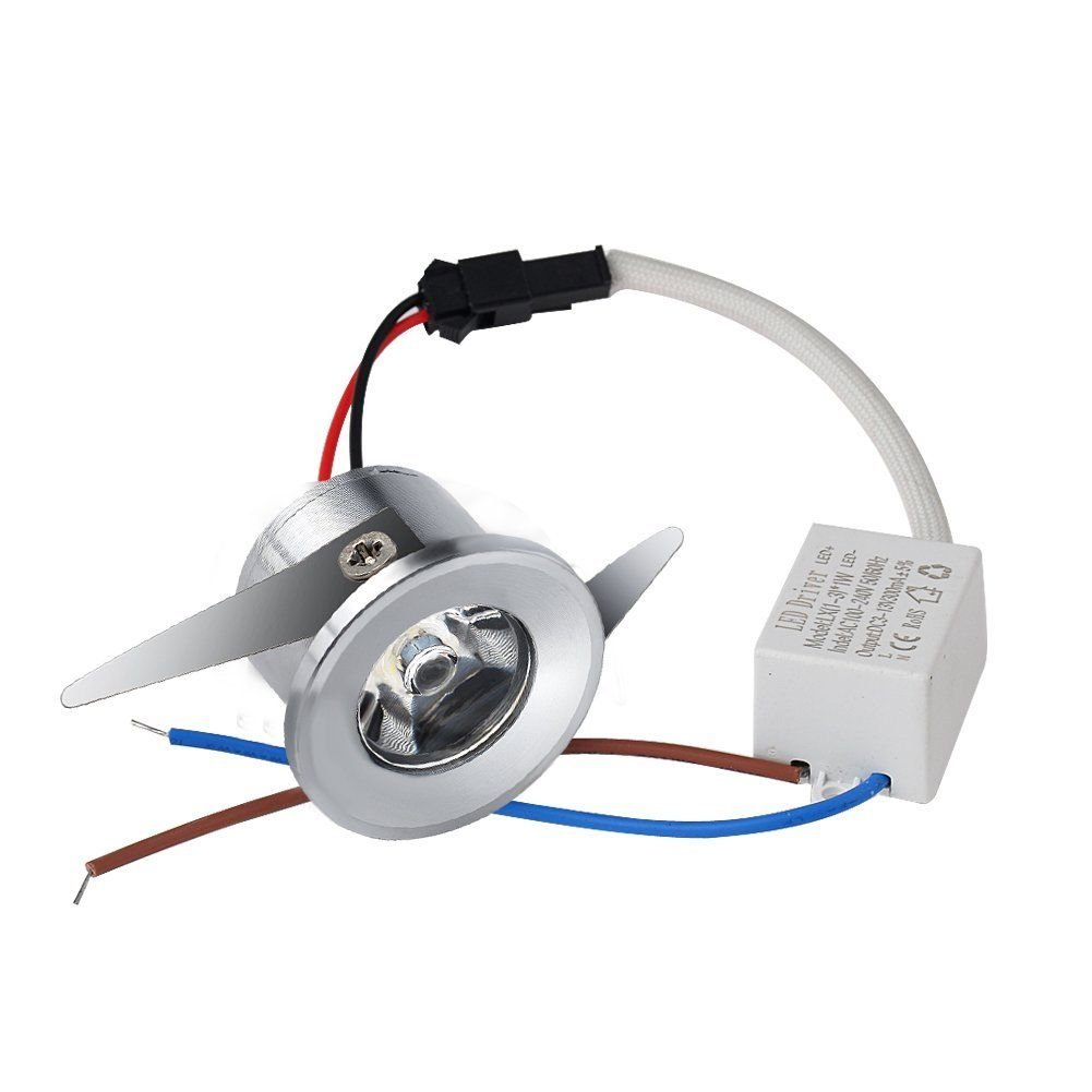 10/spots encastrables 3/W Spot LED Encastrable Mini Lumi/ère Plafonnier Blanc Chaud