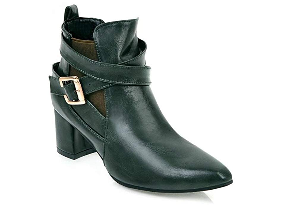 Zarachielly Women Chunky Heel Ankle Booties Combat Boots Western Boots Martin Boots