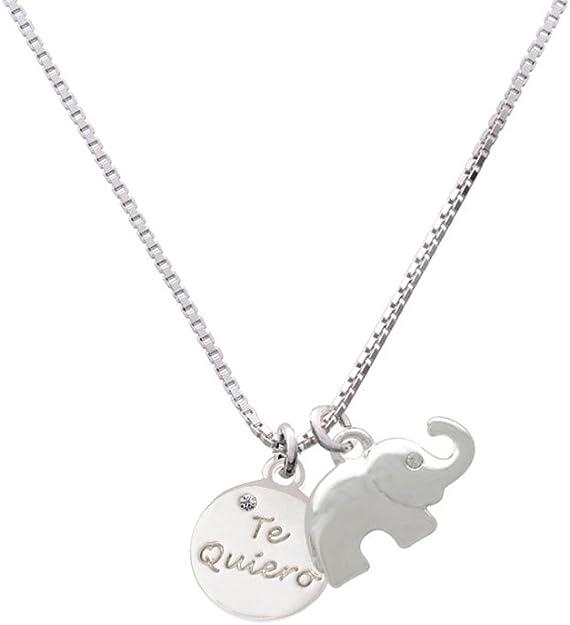 Delight Jewelry Te Quiero Disc Elephant Necklace 18+2