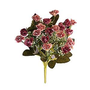 Mosichi 1Pc Handmade Artificial Flower Fake Rose Home Garden Wedding Party Table Decor - Rose Pink 20