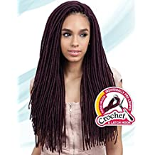 "2X MEDIUM SOFT FAUX LOC 20"" (1B Off Black) - Freetress Synthetic Crochet Braid Dread Locks"