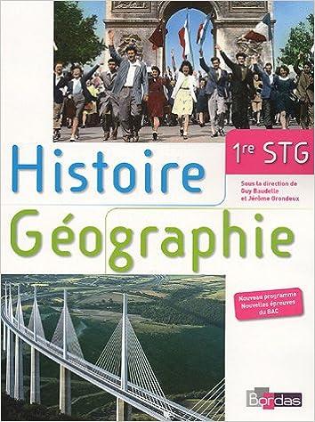 Lire un Histoire Géographie 1e STG pdf epub