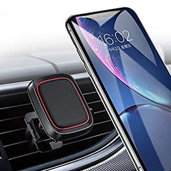 Magnetic Car Phone Mount, Car Phone Holder for Car Air Vent with 6 Strong Magnets Compatible with iPhone X/XR/Xs/Xs Max…