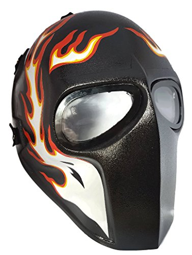 [Invader King ® Flame 1 Army of Two Airsoft Mask Protective Gear Outdoor Sport Fancy Party Ghost Masks Bb] (Movie Character Costume Ideas Homemade)