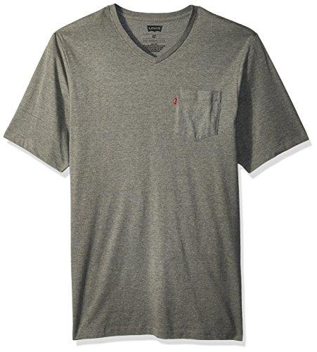 (Levi's Men's Harper Pocket V-Neck T-Shirt , Grey, XX Large)