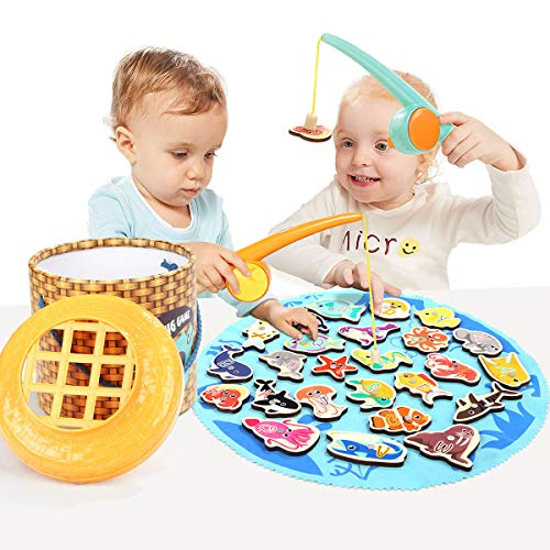 TOP BRIGHT Fishing Game Magnetic Toys for 2 3 4 Year Olds Gifts - Montessori Toys for Toddlers Preschool Learning Fine Motor Skills ()