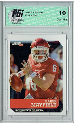 Baker Mayfield 2017 S.I. for Kids #632 Rookie Card PGI 10