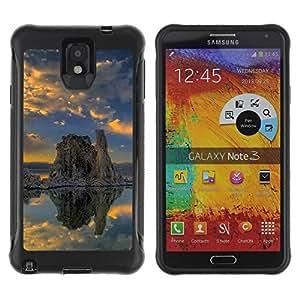 Suave TPU GEL Carcasa Funda Silicona Blando Estuche Caso de protección (para) Samsung Note 3 / CECELL Phone case / / Nature Lonely Rock /