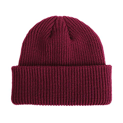 2019 Knitted Hats Solid Color Caps for Autumn Winter Men Short Outdoor Warm Cap Street Head Cap Women - Shorts Enfield