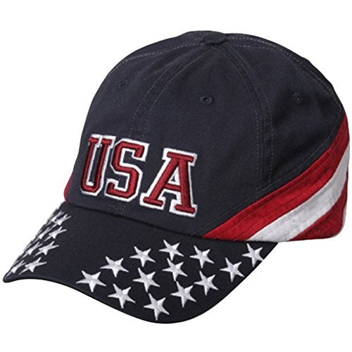 (MG Patriotic Cap - Navy USA Star OSFM)