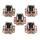 Yibuy 5PCS TFS-A31 Durable Electric Lock Assembly Solenoid Long Life Span DC 6V 0.35A