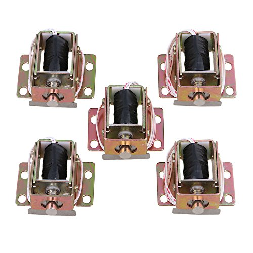 Yibuy 5PCS TFS-A31 Durable Electric Lock Assembly Solenoid Long Life Span DC 6V 0.35A by Yibuy
