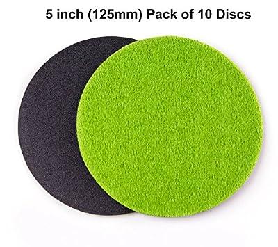 5 inch (125mm) GP100 Abrasive Disc for Glass Scratch Repair, MEDIUM GRADE (pack of 10 discs)