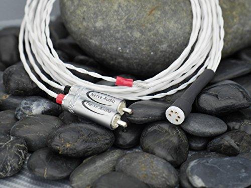 Nerve Audio Axon 24 1.5 meter Tonearm Cable Silver Plated Copper Cardas DIN RCA