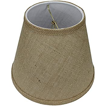 Upgradelights 7 inch chandelier lamp shade black parchment mini fenchelshades lampshade 5 top diameter x 9 bottom diameter x 7 aloadofball Choice Image