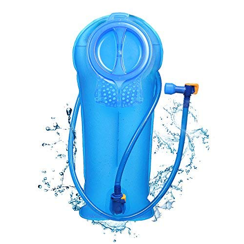 Unigear Hydration Water Bladder Reservoir BPA Free FDA Approved and Taste Free for Backpacking, Biking, Hiking and Camping (Blue, 2L)