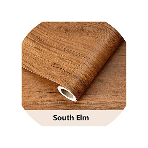 entertainment-moment Wood Grain Contact Paper for Kitchen Cabinets Furniture Wall Stickers Self Adhesive Wallpaper Desk Door Decorative Films,South Elm,10Mx61Cm (Elm Wood Stove)