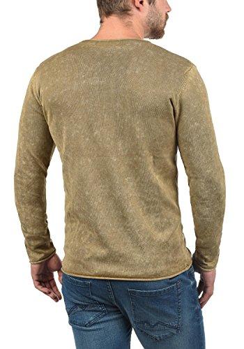 solid Da Maglieria 100 Kirisaku Maglione Girocollo Cotone Pullover Uomo In Dune 5409 Con rtqrZxIwv