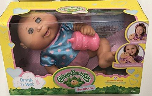 Cabbage Patch Kids Drink N' Wet Newborn Baby Doll (Heart)