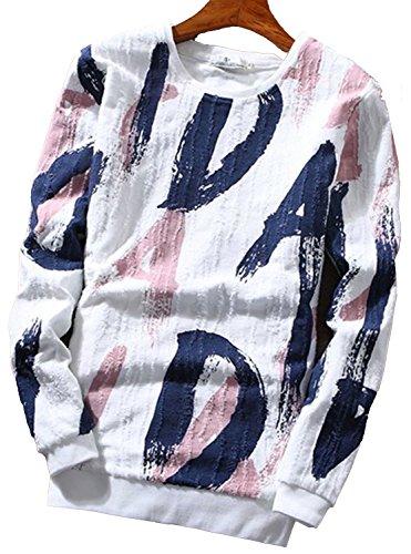 インサート読みやすい交流するHeaven Days(ヘブンデイズ) クルーネック カットソー Tシャツ ロンT 長袖 ロングTシャツ メンズ 17030739