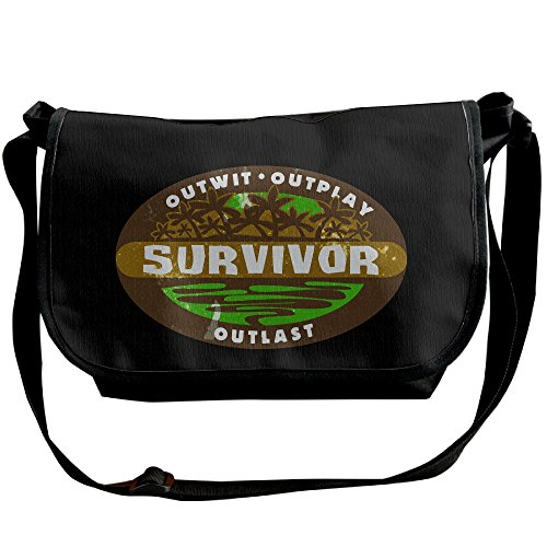 Price comparison product image Amurder Personalized Reality Competition Survivor Messenger Shoulder Bag Black