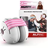 Alpine Muffy Baby Ear Protection – Baby Ear Muffs – Noise Protection for Babies and Toddlers up to 36 Months – Comfortable Infant Ear Protection - Prevent Hearing Damage & Improve Sleep, Pink