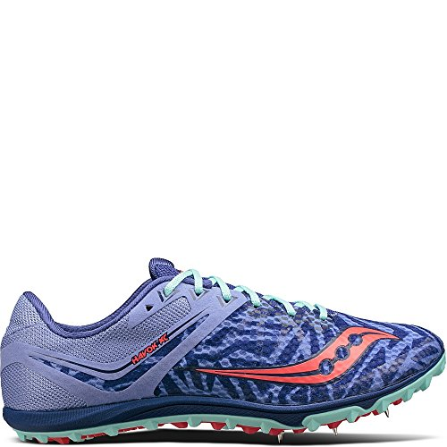 Women's Saucony Havok XC Flat, Lavender/Vizi Red, 9 B