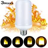 6Pack LED Flame Light Bulbs,E27 Simulated Nature Fire 3 modes Simulated Nature Fire Flickering Fire Effect Atmosphere Decorative Light Bulb for Bar Festival Party Christmas Decoration