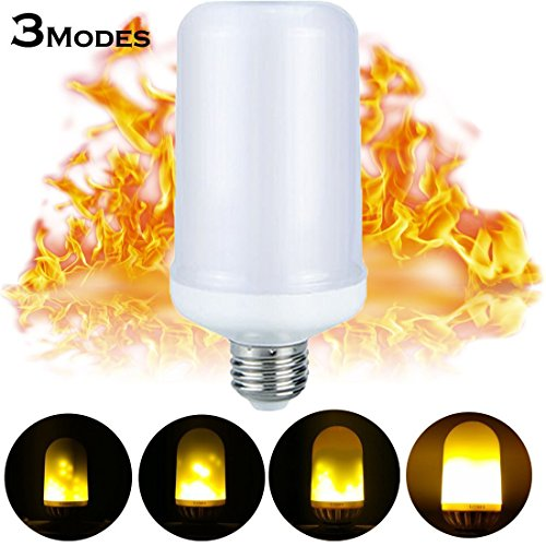 6Pack LED Flame Light Bulbs,E27 Simulated Nature Fire 3 modes Simulated Nature Fire Flickering Fire Effect Atmosphere Decorative Light Bulb for Bar Festival Party Christmas Decoration by LOVFASHION