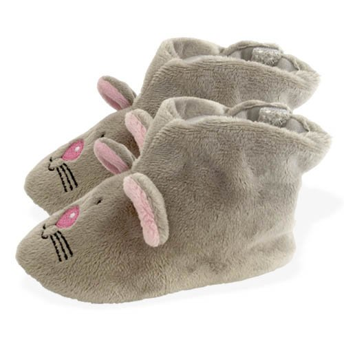 Peluches Cel - Zapatillas ratón de peluche, color gris (MAE 257raton)