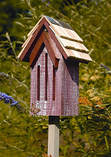 Heartwood Mademoiselle Butterfly House - Heartwood Mademoiselle Butterfly House in Red Whitewash