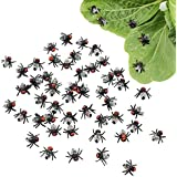 "LovesTown Fake Flies, 50 Pcs 0.6"" Simulated Insect Joke Toys Prank Flies Toys for Joke Halloween Party Supplies"