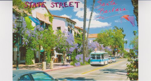 SBPC632-10h SANTA BARBARA DOWNTOWN STATE STREET IS LINED WITH POSTCARD .. from Hibiscus - Barbara Santa St State