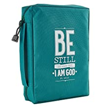 Bible Cover Poly Canvas Be Stilux-Leather Psalm 46: 10 Large